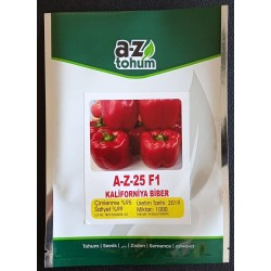 A-Z-25 F1 Kalifornia Tipi Biber Tohumu